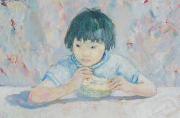 Dang Van Ty - Barn ved et bord