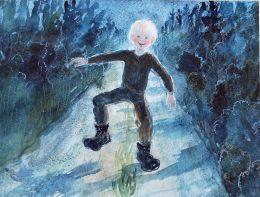 Wenche Øyen - Hoppende gutt på vei