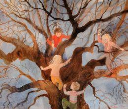 Wenche Øyen - Lekende barn i tre